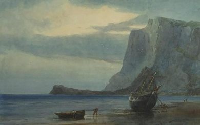 Alfred Edward Parkman - Moored fishing boats with