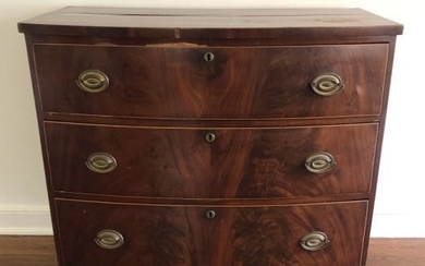 American Federal 3 Drawer Book Matched Dresser