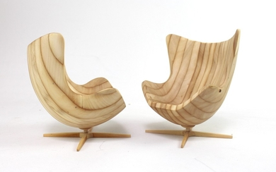 Andrzej Danielski, wooden sculptures 'Egg Chairs'