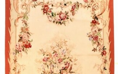 Antique Aubusson French Tapestry Panel wall Hanging