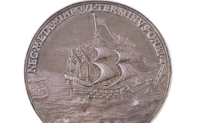 Charles I, Dominion of the Sea 1630, silver medal