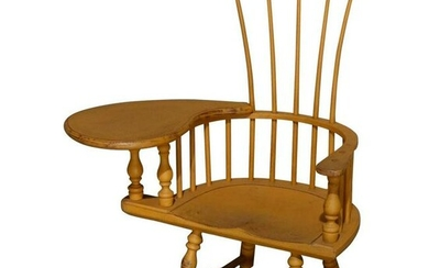 Child's Yellow Painted Writing Arm Windsor Chair, 20th