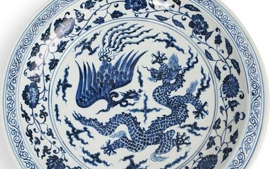 Chinese Blue & White Charger Plate