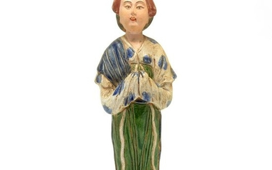 Chinese Green Glazed Pottery Tang Style Lady.