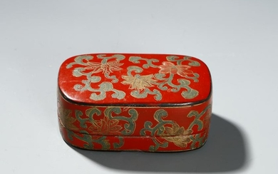Chinese Lacquer Box and Cover
