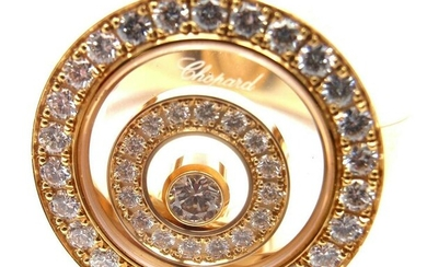 Chopard 18k Yellow Gold Happy Spirit Diamond Ring