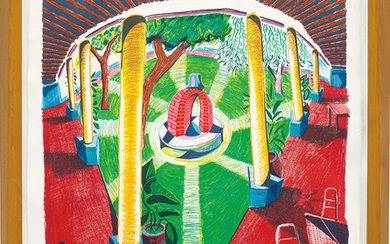 David Hockney, Views of Hotel Well III, from Moving Focus Series
