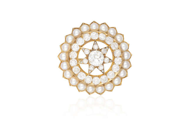 Description A FABERGÉ DIAMOND AND GOLD BROOCH, BY WORKMASTER...