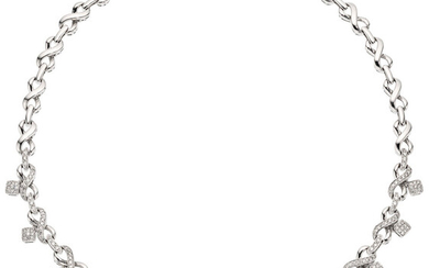 Diamond, White Gold Necklace, Sonia B. The necklace features...