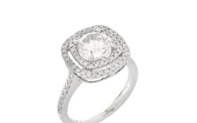 Diamond and 18K Engagement Ring