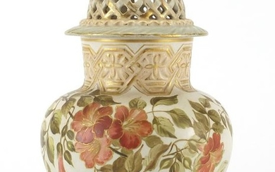 Doulton Lambeth potpourri vase and cover by Edith D