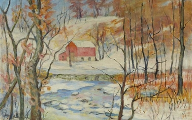 Elizabeth Fisher Washington (American, 1871–1953) Winter Landscape Signed bottom...