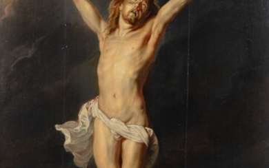 FLEMISH SCHOOL, 17TH OR 18TH CENTURY, AFTER SIR ANTHONY VAN DYCK [ECOLE FLAMANDE DU XVIIE OU XVIIIE SIÈCLE, D'APRÈS SIR ANTHONY VAN DYCK] | CHRIST ON THE CROSS [CHRIST EN CROIX]