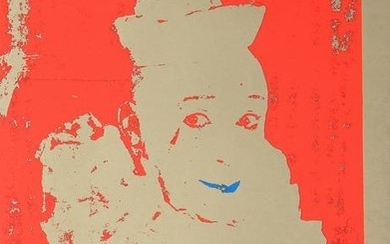 Ford Beckman, Neon Clown (Red with Blue), Silkscreen