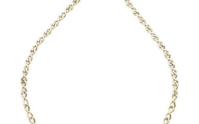 Choker with diamonds in 18K, 14K yellow gold, and palladium silver, with 31 diamonds. Weight: 23.0 g