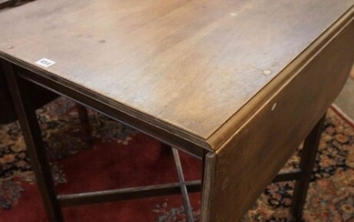 Gordon Russell, Mahogany Drop Leaf Table, Stamped to the underside Russell GR with Crown motif