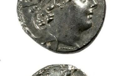 Greek Syrian Kings Antiochus VI Silver Drachm