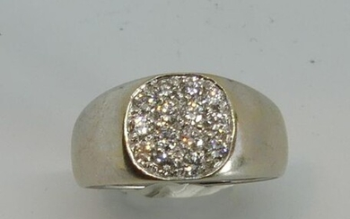 HORSE RING in white gold, paved with diamonds. Gross weight 6.2 g. TDD 53
