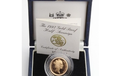 Half Sovereign 1997 Proof FDC boxed as issued