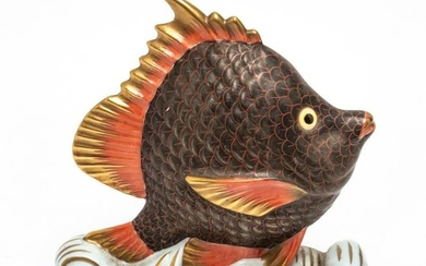 Herend Porcelain Sailing Fish Figurine