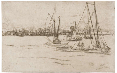 James Abbott McNeill Whistler (1834-1903) Amsterdam, from the Tolhuis
