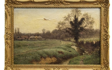 LANDSCAPE, AN OIL BY GEORGE GIBBS