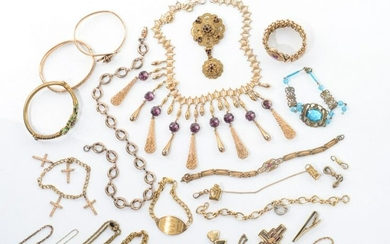 LOT OF GOLD FILLED & PLATED JEWELLERY