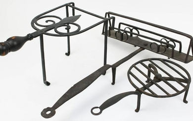 Late 18th- Early 19th c Wrought Iron Toasters