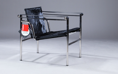 Le Corbusier, LC1 lounge chair, black pony leather
