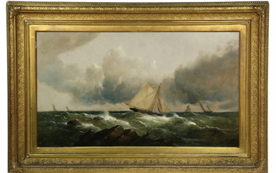 MONUMENTAL 19TH C. MARINE PAINTING