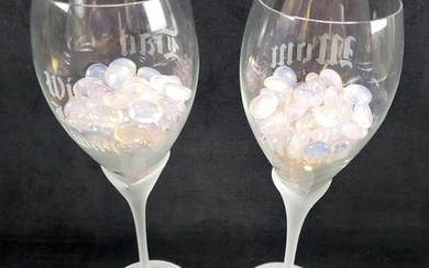 Mom and Dad Customized Wine Glasses