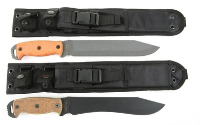 ONTARIO KNIFE CO TACTICAL SURVIVAL KNIVES LOT OF 2