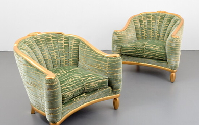 Pair of Andre Groult Gold Leaf Bergeres, Selected by Jay Spectre