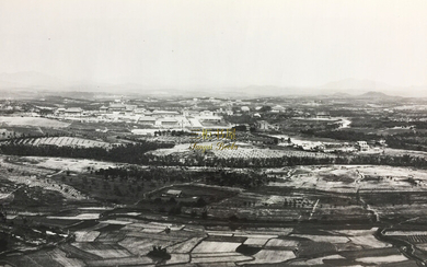 Panorama de l'Universite Sun Yat Sen a Canton; A Panoramic View of the National Sun Yat-sen University in Canton. Original Large Silver Print Photograph by The Bright Studio at Canton in 1930