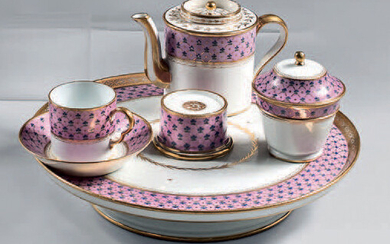 Part of a Paris porcelain service from the first half of the