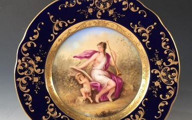 Royal Vienna Hand Painted Cabinet Plate, Late 19th/Early 20thc.