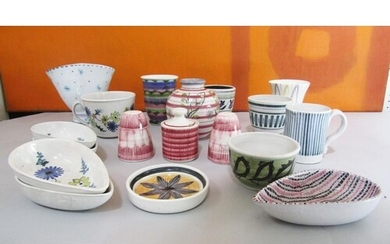 Rye pottery - A collection of various studio pottery wares, ...