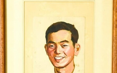 Signed Chinese Portrait Painting of a Man