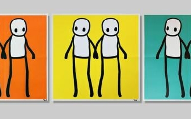 Stik (British 1979-), 'Holding Hands (Red, Orange