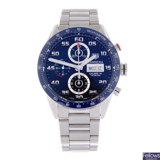 TAG HEUER - a gentleman's Carrera Calibre 16 chronograph bracelet watch.