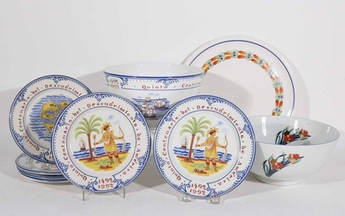 Tiffany & Co Christopher Columbus Plates and Bowl