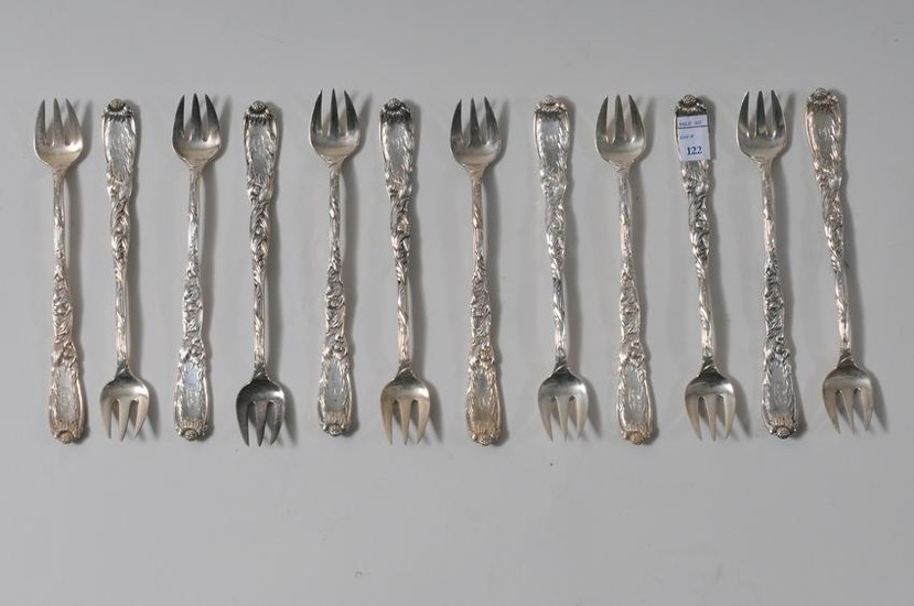 Tiffany & Co. Makers sterling silver set of twelve