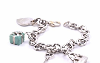 Tiffany & Co Sterling Silver and Enamel Return To