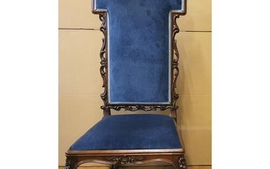 Victorian ladies high-backed chair