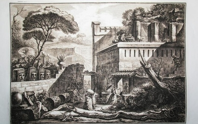 View of the Mausoleum of Mamia in the City of Pompeii