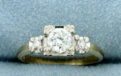 Vintage 2/3ct TW Three-Stone Diamond Engagement or