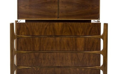 William Hinn Mid Century Modern MCM Walnut Dresser