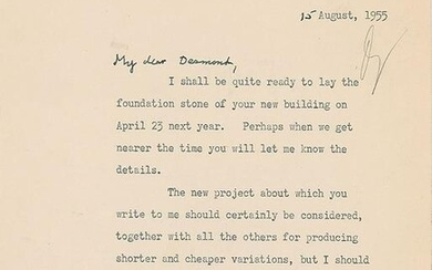 Winston Churchill Typed Letter Signed