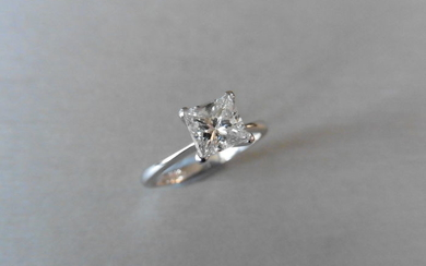 0.98ct diamond solitaire ring with a princess cut...