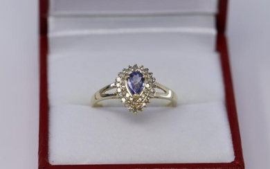 14Kt Ladies Tanzanite|Diamond Ring